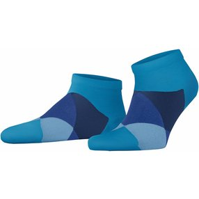 Burlington Clyde Herren Sneakersocken, 40-46, Blau, Raute, 21063-669202