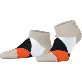 Burlington Clyde Herren Sneakersocken, 40-46, Beige, Raute, 21063-477502