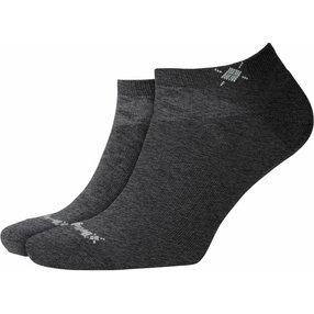 Burlington Everyday 2-Pack Herren Sneakersocken, 40-46, Grau, Uni, Baumwolle, 21052-308102