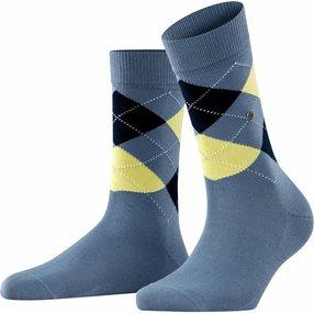 Burlington Covent Garden Damen Socken, 36-41, Blau, Argyle, Baumwolle, 22188-672201