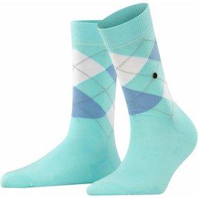Burlington Covent Garden Damen Socken, 36-41, Blau, Argyle, Baumwolle, 22188-680201