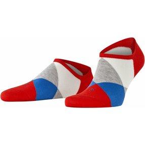 Burlington Clyde Herren Sneakersocken, 40-46, Rot, Raute, 21063-831502