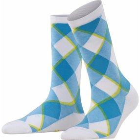 Burlington Westminster Damen Socken, 36-41, Weiß, Raute, Baumwolle, 27017-200001
