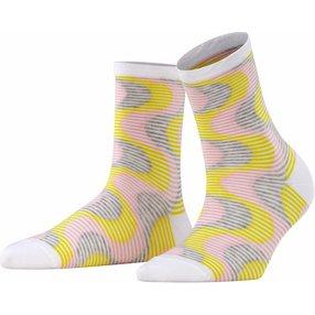 Burlington Frequency Stripe Damen Socken, 36-41, Weiß, Streifen, Baumwolle, 27108-200001