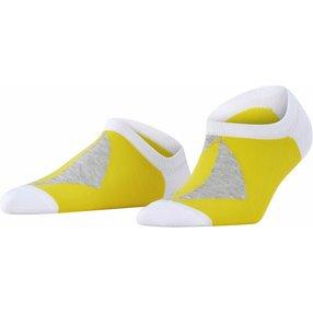 Burlington Graphic Rhomb Damen Sneakersocken, 39-42, Weiß, Raute, Baumwolle, 27100-200002