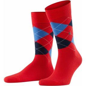 Burlington King Herren Socken, 46-50, Orange, Argyle, Baumwolle, 21020-800103