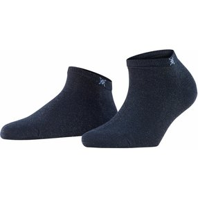 Burlington Soho Vibes Damen Sneakersocken, 36-41, Blau, Baumwolle, 22100-612001