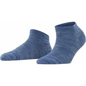 Burlington Soho Vibes Damen Sneakersocken, 36-41, Blau, Baumwolle, 22100-666201
