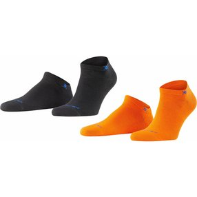 Burlington Everyday 2-Pack Herren Sneakersocken, 40-46, Rot, Uni, Baumwolle, 21052-803602