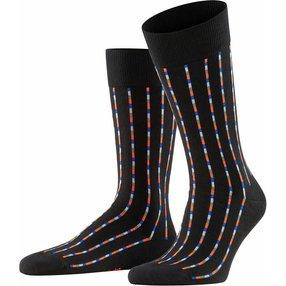 Burlington Pinstripe Herren Socken, 40-46, Schwarz, Streifen, Baumwolle, 21932-300002