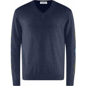 Burlington Herren Pullover V-Ausschnitt, L, Blau, Argyle, Baumwolle, 2159016-66860500