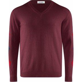 Burlington Herren Pullover V-Ausschnitt, XL, Rot, Argyle, Baumwolle, 2159016-81380600