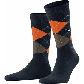 Burlington King Herren Socken, 40-46, Blau, Argyle, Baumwolle, 21020-613502
