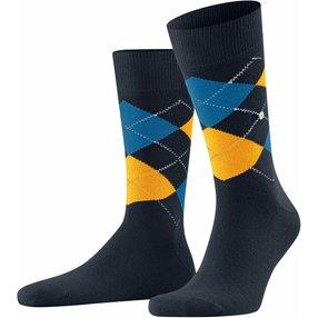 Burlington King Herren Socken, 40-46, Blau, Argyle, Baumwolle, 21020-612602