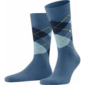 Burlington King Herren Socken, 40-46, Blau, Argyle, Baumwolle, 21020-652302