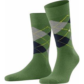 Burlington King Herren Socken, 40-46, Grün, Argyle, Baumwolle, 21020-765602