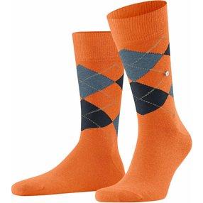 Burlington King Herren Socken, 40-46, Orange, Argyle, Baumwolle, 21020-836402