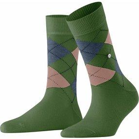 Burlington Queen Damen Socken, 36-41, Blau, Argyle, Baumwolle, 22040-716601