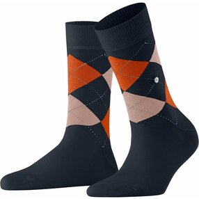 Burlington Queen Damen Socken, 36-41, Lila, Argyle, Baumwolle, 22040-613001