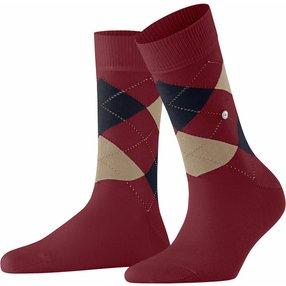 Burlington Queen Damen Socken, 36-41, Rot, Argyle, Baumwolle, 22040-883001
