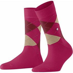 Burlington Queen Damen Socken, 36-41, Rot, Argyle, Baumwolle, 22040-804801