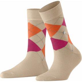 Burlington Queen Damen Socken, 36-41, Beige, Argyle, Baumwolle, 22040-438101