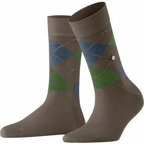 Burlington Queen Damen Socken, 36-41, Braun, Argyle, Baumwolle, 22040-506101