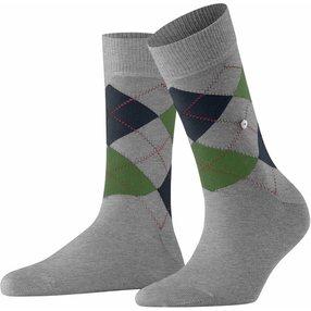 Burlington Queen Damen Socken, 36-41, Grau, Argyle, Baumwolle, 22040-340801