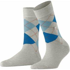 Burlington Queen Damen Socken, 36-41, Weiß, Argyle, Baumwolle, 22040-382301