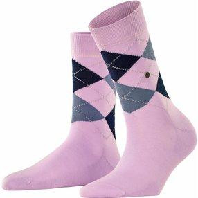Burlington Covent Garden Damen Socken, 36-41, Rosa, Argyle, Baumwolle, 22188-867501