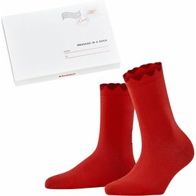 Burlington Secret Love Letter Damen Socken, 36-41, Rot, Baumwolle, 27113-800901