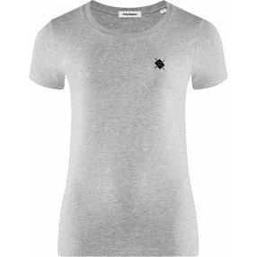 Burlington Damen T-Shirt Rundhals, M, Grau, Raute, Baumwolle, 2269012-34000400