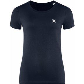 Burlington Damen T-Shirt Rundhals, M, Blau, Raute, Baumwolle, 2269012-61200400