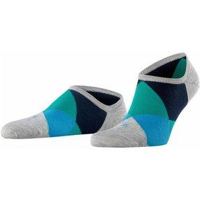 Burlington Clyde Herren Sneakersocken, 40-46, Grau, Raute, 21063-382102