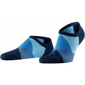 Burlington Clyde Herren Sneakersocken, 40-46, Blau, Raute, 21063-612202