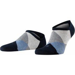 Burlington Clyde Herren Sneakersocken, 40-46, Blau, Raute, 21063-637602