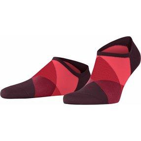 Burlington Clyde Herren Sneakersocken, 40-46, Rot, Raute, 21063-837502