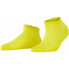 Burlington Montrose Damen Sneakersocken, 36-41, Gelb, Punkte, Baumwolle, 20764-114101