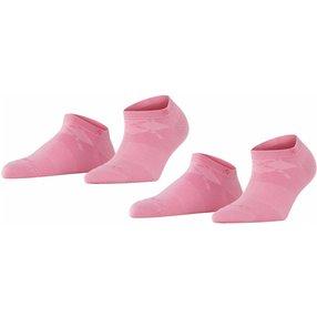 Burlington Everyday 2-Pack Damen Sneakersocken, 36-41, Rosa, Uni, Baumwolle, 22051-872501