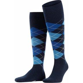 Burlington Edinburgh Herren Kniestrümpfe, 40-46, Blau, Argyle, 27082-611602