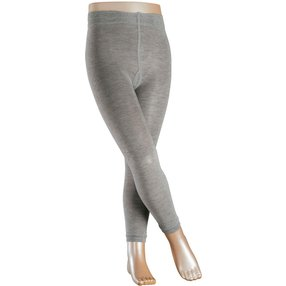 FALKE Active Warm Kinder Leggings, 80-92, Grau, Uni, Wolle, 13838-353001