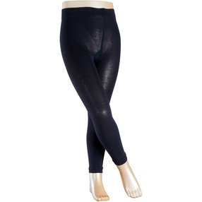 FALKE Active Warm Kinder Leggings, 152-164, Blau, Uni, Wolle, 13838-612006