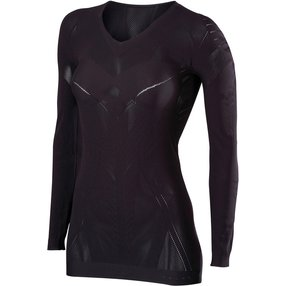 FALKE Damen Langarmshirt Cool, XS-S, Schwarz, 33050-300001