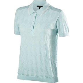 FALKE Natural Damen Golf Polo-Shirt, XS, Grün, 37832-749101