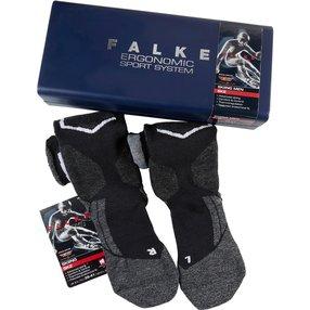 FALKE SK2 Christmas Herren Ski Geschenkbox, 46-48, Schwarz, Wolle, 15922-301005
