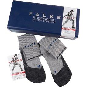 FALKE TK2 Wool Silk Christmas Damen Trekking Geschenkbox, 35-36, Grau, Schurwolle, 15956-340001