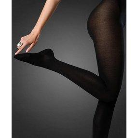 FALKE No. 2 Finest Silk Ladies Strumpfhose, Damen, 36-38, Schwarz, Uni, Seide, 48679-300900