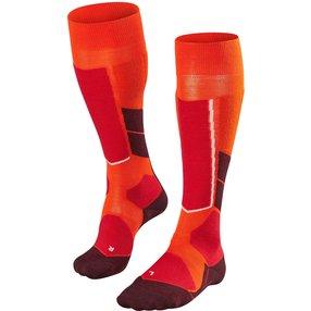 FALKE ST4 Wool Herren Ski Kniestrümpfe, 46-48, Orange, Schurwolle, 16596-818205
