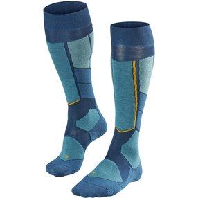 FALKE ST4 Wool Herren Ski Kniestrümpfe, 44-45, Blau, Schurwolle, 16596-661804