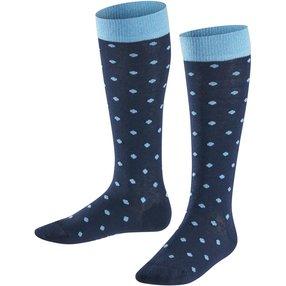 FALKE Glitter Dot Kinder Kniestrümpfe, 23-26, Blau, Lurex, Baumwolle, 11895-612002